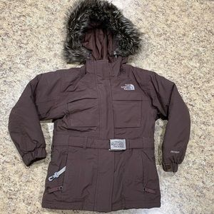 The North Face Brown Hyvent  Parka Girls xs